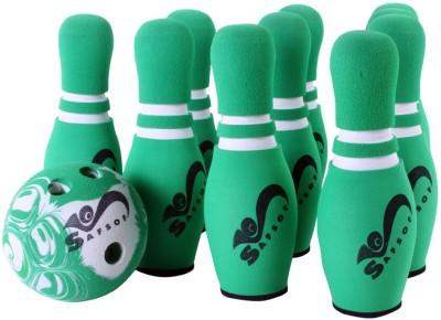 Safsof Rubber Foam Mini Bowling Pin In Bag 10 Pins - Green