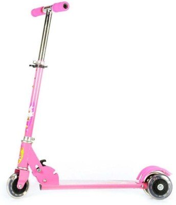 Facto Power Kids Foldable and Height Adjustable  App. upto 35 Kg. Weight  Scooter Pink  available at Flipkart for Rs.634