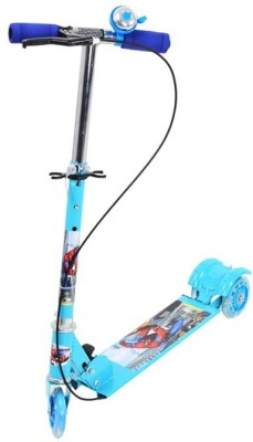 Madink 3 Wheel Scooter for Kids With Handbrake & Bell(Blue, Green)