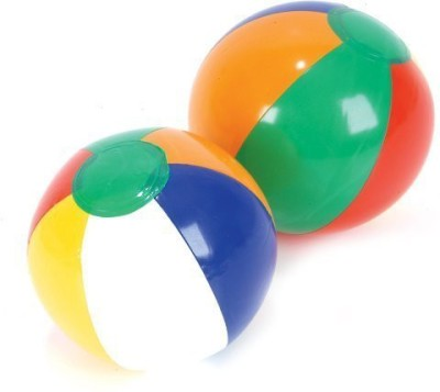 Beachballs Mini Inflatable l 5-inch (Approx) Inflated and 7-inch Deflated (Approx) (One Dozen)
