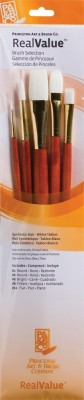 Princeton Real Value Round, Bright, Filbert, Flat Paint Brushes