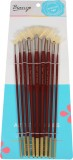 Bianyo Fan Paint Brushes (Set of 9, Brow...