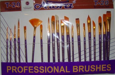 Arora Mix Paint Brushes(Set of 1, Orange)