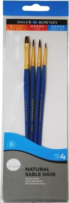 Daler-Rowney Simply Flat, Round, Filbert Paint Brush