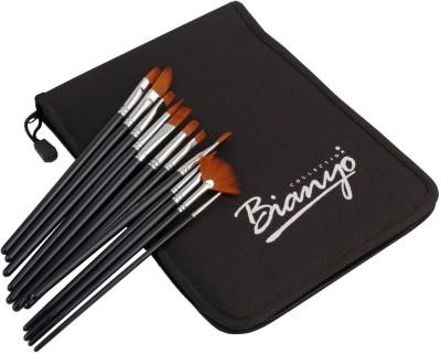 Bianyo Round, Flat, Angular, Filbert, Liner, Script Paint Brushes