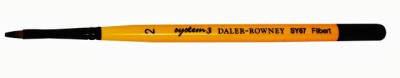 Daler-Rowney System 3 Filbert Paint Brushes(Set of 1, Yellow)