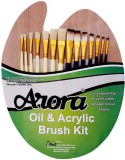 Arora Mix Paint Brushes (Set of 1, Cream...
