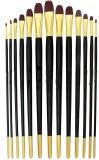 Shrih Filbert Paint Brushes (Set of 13, ...