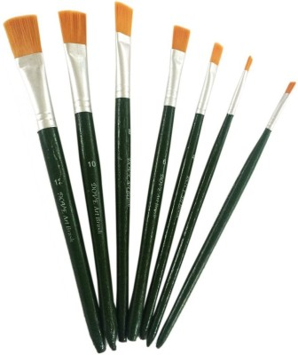 Toygully Flat Brush Wooden Handle Paint Brushes