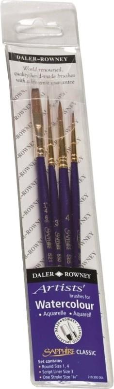 Daler-Rowney Classic Sapphire Brush Set(Set of 4)