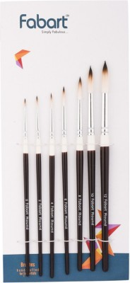 fabart Round Paint Brushes