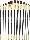 Bianyo Flat Paint Brushes (Set of 13, Bl...