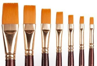 Camlin Series 67 Flat Paint Brushes
