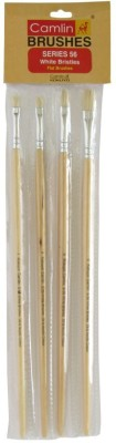 camlin Flat Paint Brushes(Set of 1, White)