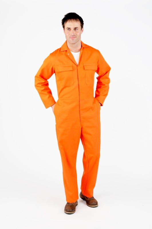 Legasea Ocean King Orange Boiler suits Paint Coverall(XL)