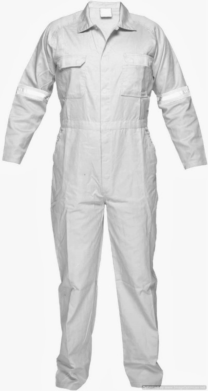 Legasea Ocean King White Boiler Suits With Reflective Tapes Paint Coverall(XL)