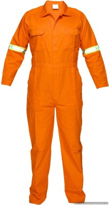 Legasea Ocean King Orange Boiler suits with Reflective Tapes Paint Coverall(M)