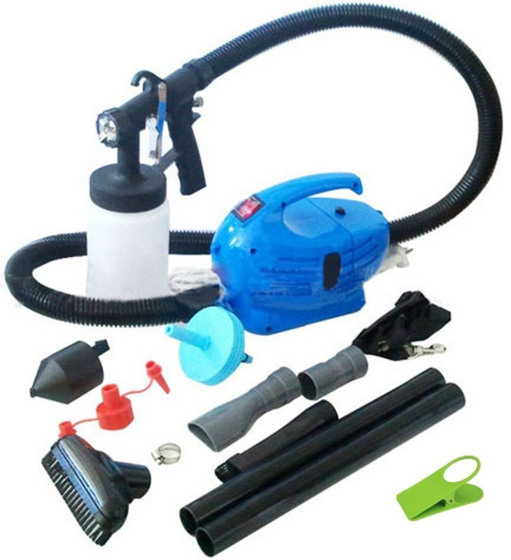 Paint Magic Ultimate 4 In 1 Professional Paintzoom Spray Gun Vaccum Cleaner Water Air Blower Elite Painting Accessories With Clipholder abd12 Airless Sprayer(Blue)