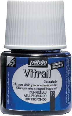 Pebeo Vitrail Satin Glass Color(Deep Blue)