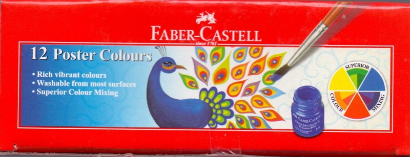 Faber Castell Art Creation Poster Color Bottle(Set of 1, Red)