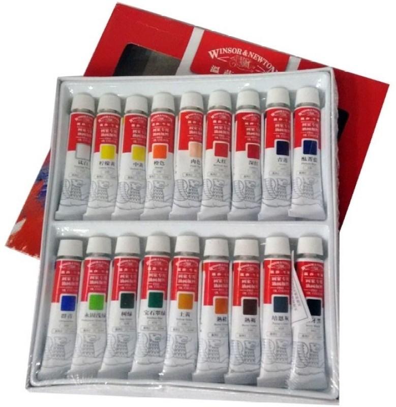 Winsor & Newton Fine Oil colour Tube(Set of 18, Multicolor)