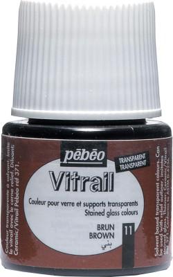 Pebeo Vitrail Satin Glass Color(Brown)