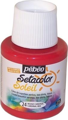 Pebeo Setacolor Soleil Transparent Color(Cardinal Red)