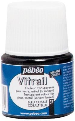 Pebeo Vitrail Satin Glass Color(Cobalt Blue)