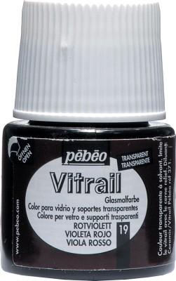 Pebeo Vitrail Satin Glass Color(Red Violet)