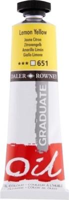 Daler-Rowney Graduate Oil Paint(Lemon Yellow)