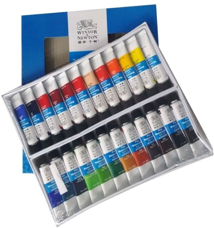 Winsor & Newton Fine Watercolour Tube(Set of 24, Multicolor)