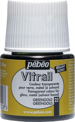 Pebeo Vitrail Satin Glass Color(Green Gold)