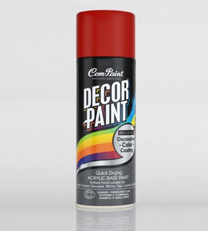 Com-Paint Decor Paint Spray Paint Bottle(Set of 1, Dark Red)