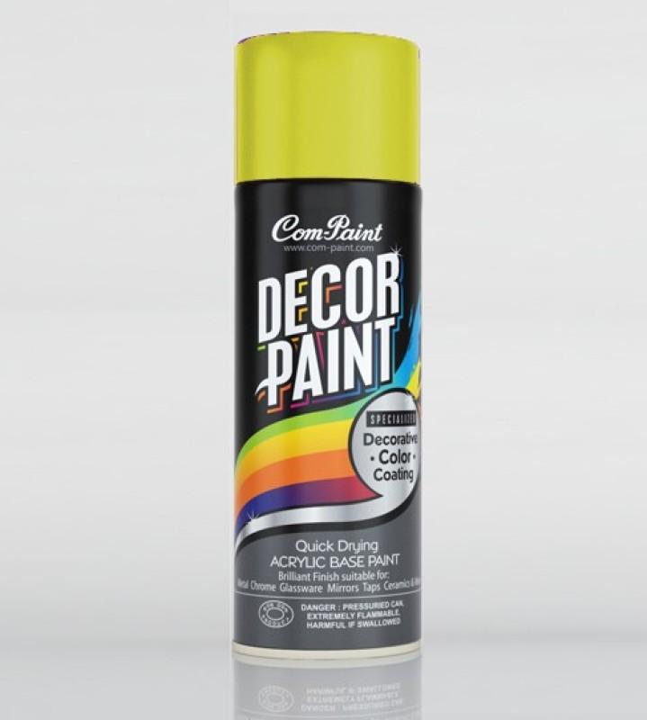 Com-Paint Decor Paint Spray Paint Bottle(Set of 1, Yellow)