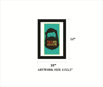 Rkason Gold Mirror/Wallart Beard Season Ink Painting