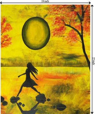Tiedribbons StJohnsAshfield_StainedGlass_GoodShepherd_Portrait unframed Cotton Medium Grain Canvas Roll (Set of 1)