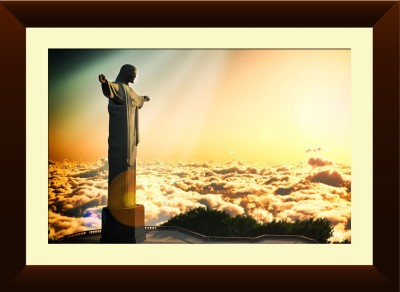 Wallmantra Christ The Redeemer Framed Print Canvas Painting