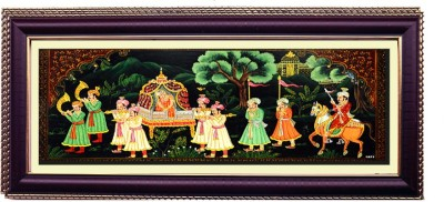 Shree Sai King and Queen Barat Wall Painting Canvas Painting