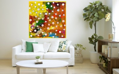 JP Hardware OM CHANTING Acrylic Painting