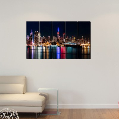 999 Store City Tower River Digital Reprint Painting(30 inch x 52 inch)