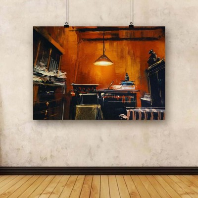 Artzfolio Old Vintage Workspace Unframed Art Print Canvas Painting