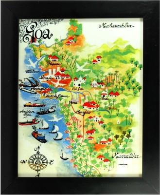 Mario Gallery Miranda,S Goa Map Tile Ceramic Painting