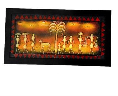MayurShilpa Mural Wall Hangings Natural Colors Painting