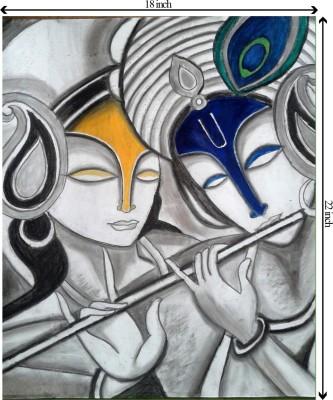 Tiedribbons Sheer Innocence_Lord Krishan unframed Cotton Medium Grain Canvas Roll (Set of 1)