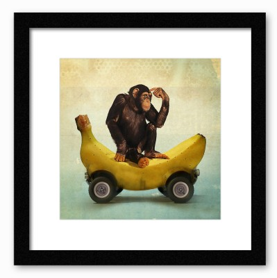 Dreambolic Banana Love Poster Digital Reprint Painting