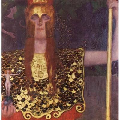 Snapgalaxy Art Panel - Pallas Athena by Klimt Canvas Painting