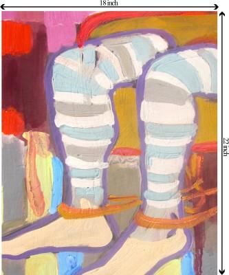 Tiedribbons Victims Of Propoganda unframed Cotton Medium Grain Canvas Roll (Set of 1)