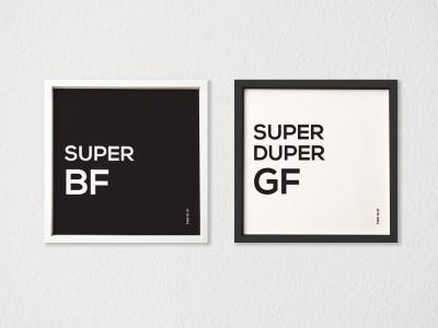 TwoGud Super BF, Super Duper GF Digital Print Wall Art Ink Painting