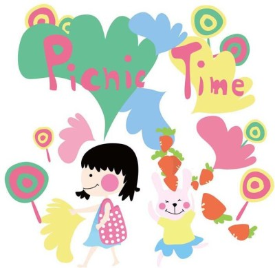 Tallenge - Picnic Time- Lets have Fun - Medium Size Ready To Hang Gallery Wrap Canvas Painting
