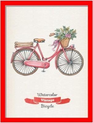 Oobinno Vintage Bicycle Natural Colors Painting